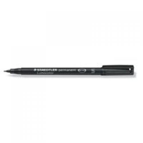 Staedtler Lumocolor OHP Pen Permanent Superfine 0.4mm Black (Pack 10)