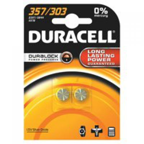 Duracell Silver Oxide Button Cell Battery 1.5V D357B2  [Pack 2]