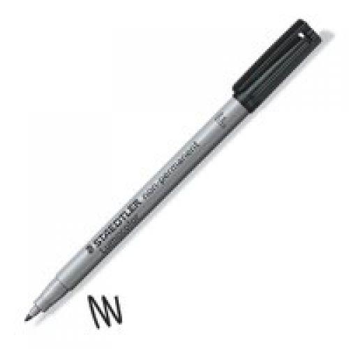Staedtler Lumocolor OHP Pen Non-Permanent Fine 0.6mm Black (Pack 10)