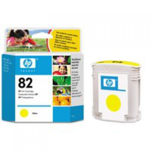 HP 82 Yellow Standard Capacity Ink Cartridge 69ml C4913A