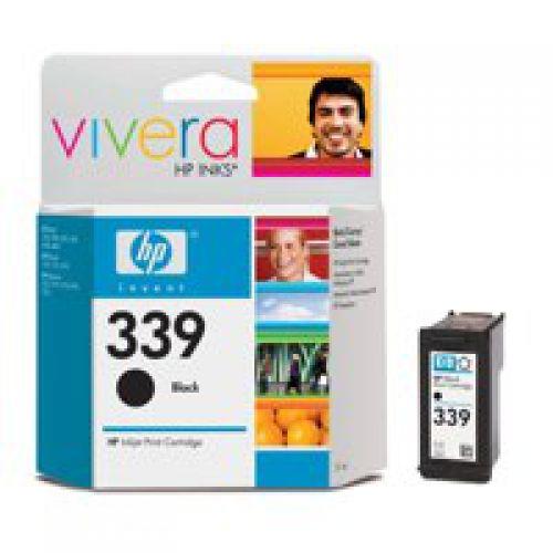 HP 339 Black High Yield Ink Cartridge 21ml - C8767E