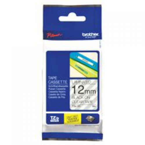 Brother TZE131 Black On Clear Label Tape 12mmx8m