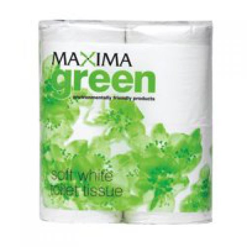 Maxima Green Toilet Roll White (Pack 48)