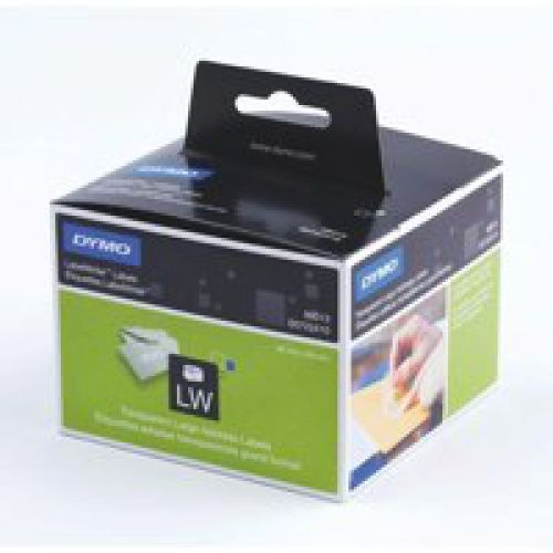 Dymo LabelWriter Large Address Labels Clear Plastic 36 x 89mm