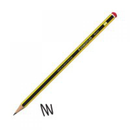 Staedtler Noris 2H Pencil 2mm Lead Black Yellow PK12