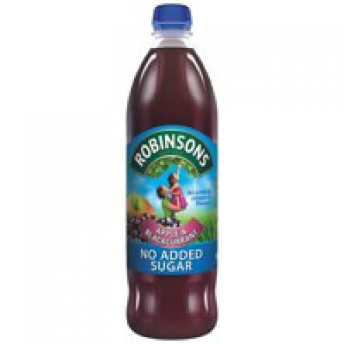 Robinsons Special R Squash No Added Sugar 1 Litre Apple and Blackcurrant A02045 [Pack 12]