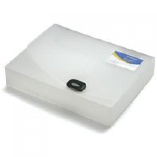 Rapesco 60mm Rigid Wallet Box File A4 Clear