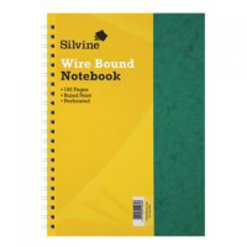 Silvine Luxpad A4 Wirebound Pressboard Cover Notebook Ruled 200 Pages Green (Pack 6)