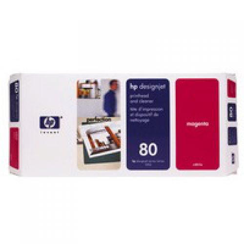 HP 80 Magenta Standard Capacity Printhead And Cleaner 17ml - C4822A