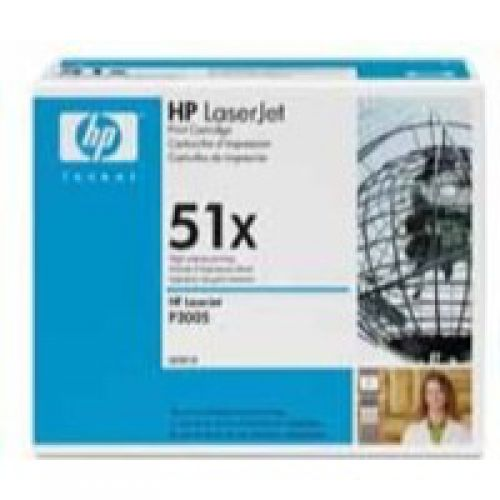 HP 51X LaserJet Toner Cartridge Page Life 13000pp Black Q7551X
