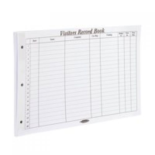 Concord Visitor Book Refill 230x335mm 2000 Entries (Pack 50 Sheets) CD14P