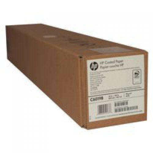 HP Coated Paper 90gsm 24 inch Roll 610mmx45.7m C6019B