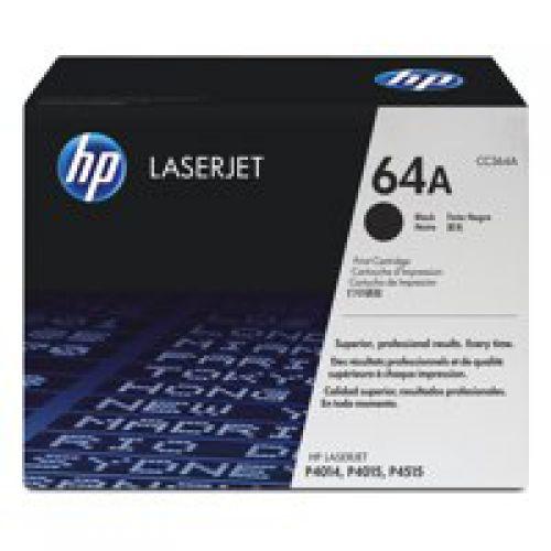 HP 64A Black Standard Capacity Toner 10K pages for HP LaserJet P4014/P4015/P4515 - CC364A