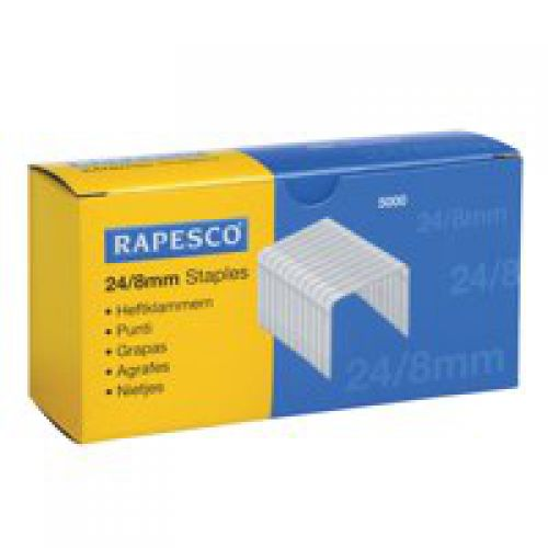 Rapesco Staples 8mm 24/8 Pk5000