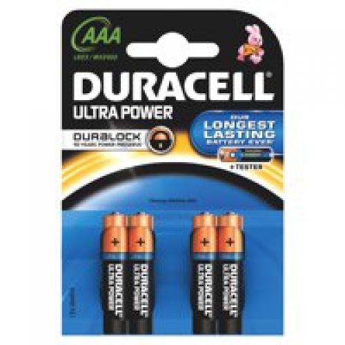 Duracell Ultra Power Alkaline Battery 1.5V AAA MX2400 [Pack 4]