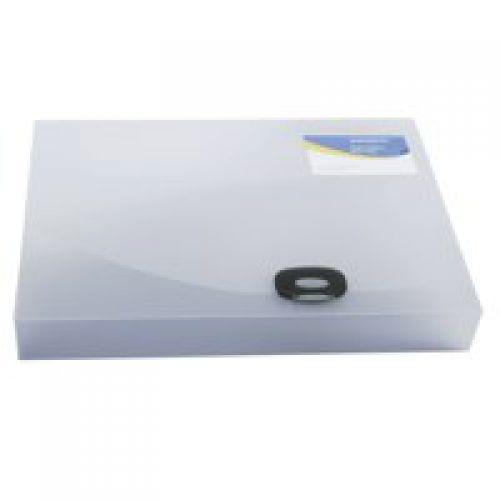 Rapesco 40mm Rigid Wallet Box File A4 Clear