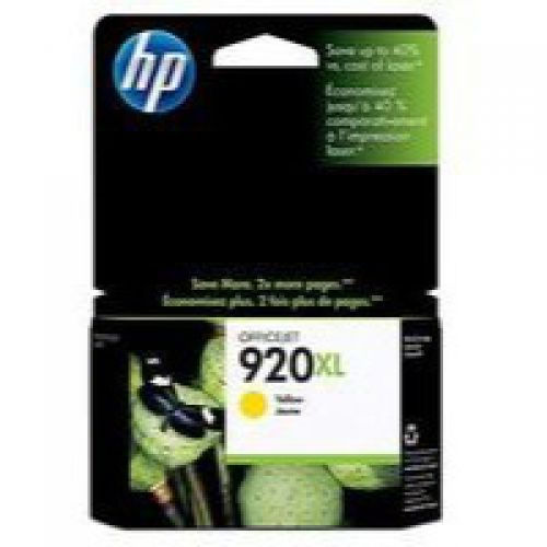 HP 920XL Yellow High Yield Ink Cartridge 8ml for HP OfficeJet 6000/6500/7000/7500 - CD974AE