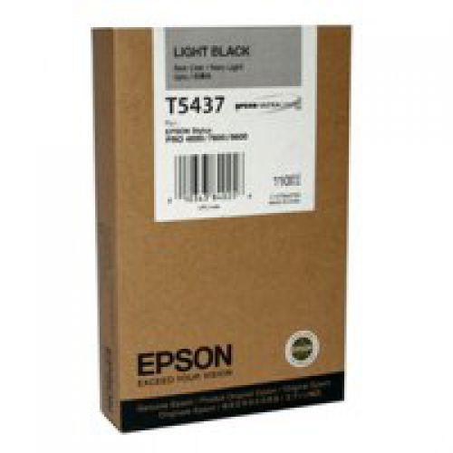 Epson T5437 Light Black Ink Cartridge 110ml - C13T543700