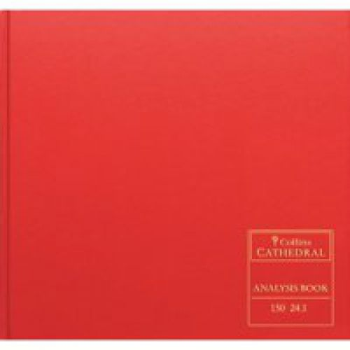 Collins Cathedral Analysis Book Casebound 297x315mm 12 Cash Column 96Pages Red 150/121