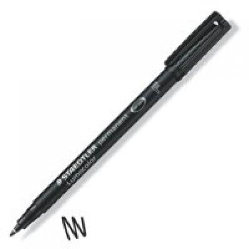 Staedtler Lumocolor OHP Pen Permanent Fine 0.6mm Black (Pack 10)