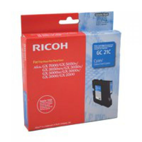 Ricoh 405533 GC21C Cyan Gel Ink 1K
