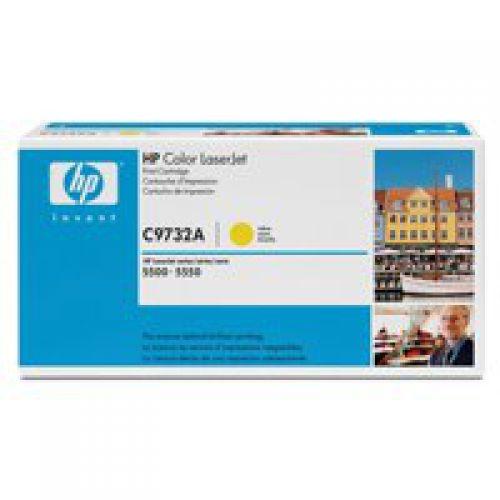 HP C9732A 645A Yellow Toner 12K