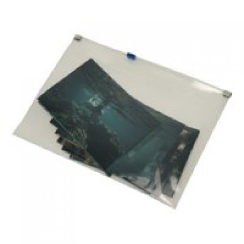 Rapesco Zippi Bag with Plastic Zip A4 Clear Pack 25