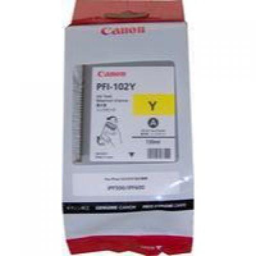 Canon 0898B001 PFI102 Yellow Ink 130ml