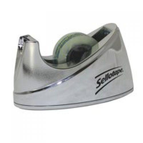 Sellotape Tape Dispenser Small for 19mm Tapes Chrome 504045