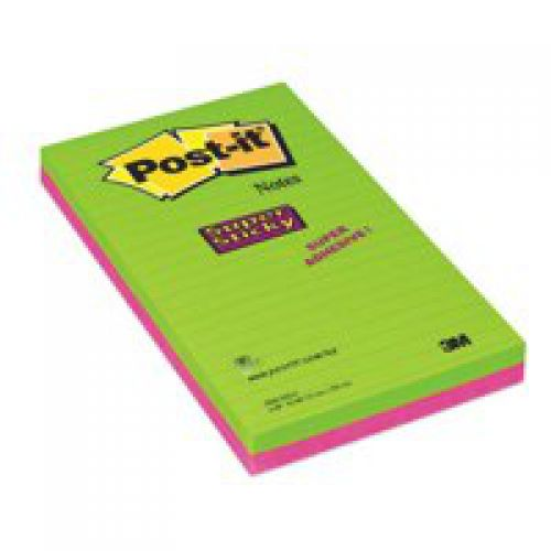 Post-It Ultra Colour Super Sticky Pad 125x200mm Pack 2