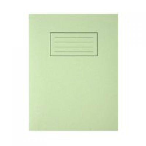 Silvine 9x7 Exercise Book Ruled Green PK10