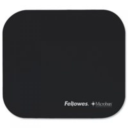 Value Fellowes Mouse Pad w/ Microban Protection Blk 5933907