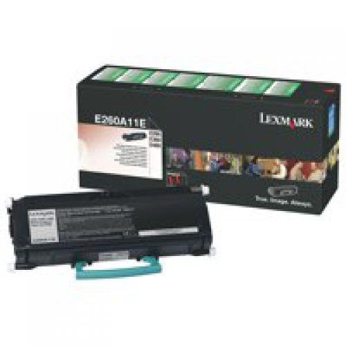 Lexmark E260A11E Black Toner 3.5K