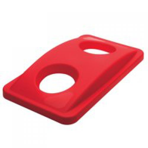 Rubbermaid Slim Jim Red Lid for Bottle Recycling System 518x290x70mm FG269288RED
