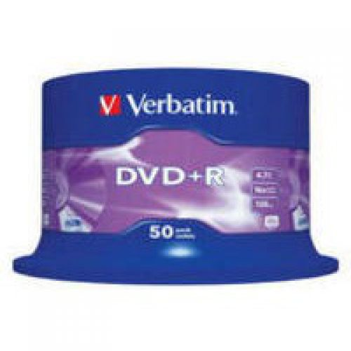 Verbatim DVD Plus R Non Printable Spindle of 50