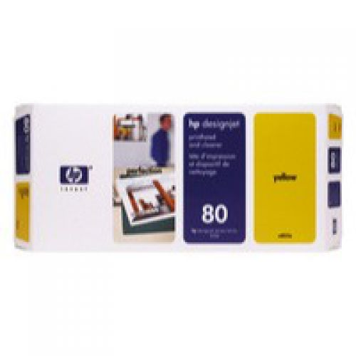 HP 80 Yellow Standard Capacity Printhead And Cleaner 17ml - C4823A