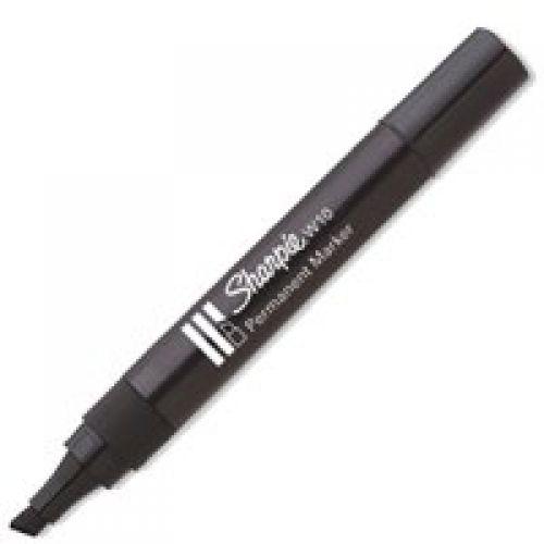 Sharpie W10 Permanent Marker Chisel Tip 1.2-5mm Line BK PK12