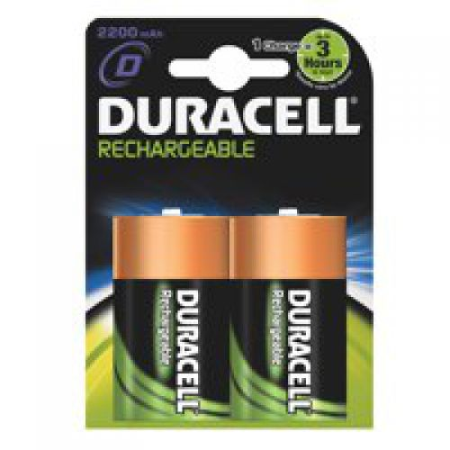 Duracell Rechargeable D Batteries Pack 2