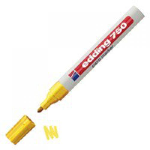 Edding 750 Paint Marker Bullet Tip 2-4mm Yellow PK10