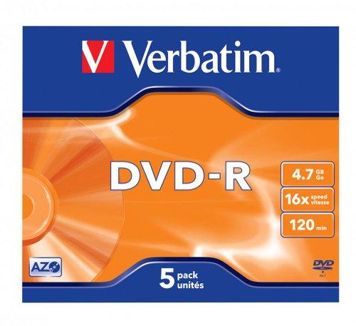 Verbatim 43519 DVD+R 4.7GB 5Pk
