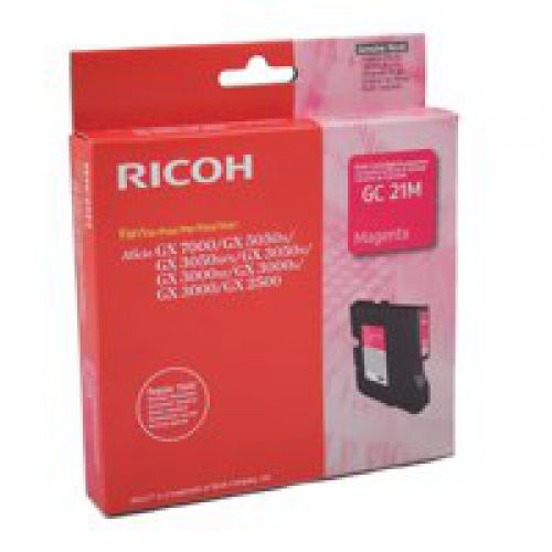 Ricoh 405534 GC21M Magenta Gel Ink 1K