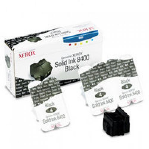 Xerox ColorStix Black (Yield 3,400 Pages) Solid Ink Sticks Pack of 3 for Xerox Phaser 8400 Series
