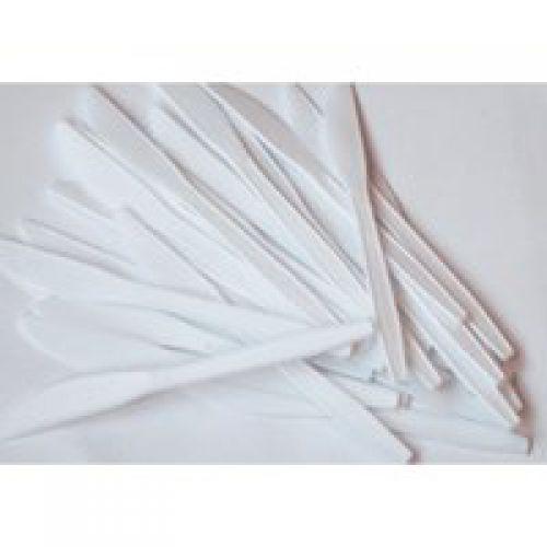 ValueX Plastic Knives White (Pack 100)