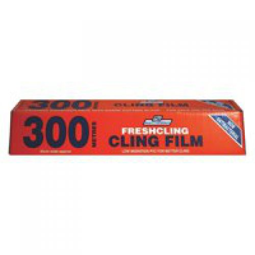 Caterpack Cling Film Antibacterial 300mmx300m Clear 70557