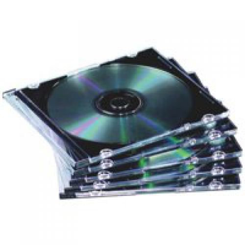 ValueX CD Jewel Case Slimline Clear 9833801 (Pack 10)