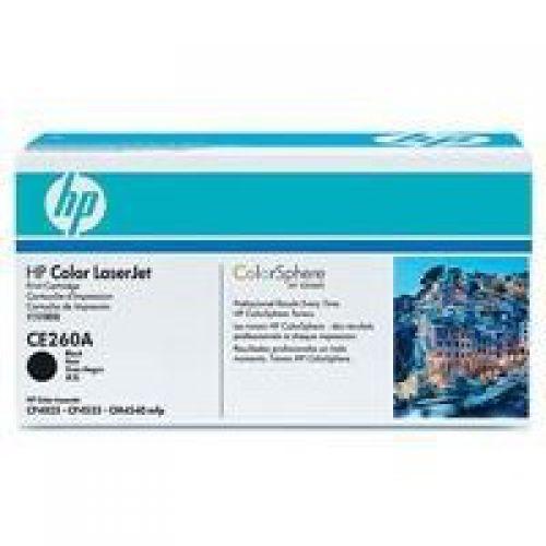HP 647A Black Standard Capacity Toner Cartridge 8.5K pages for HP Color LaserJet Enterprise CM4540/CP4025/CP4525 - CE260A