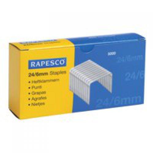 Rapesco 24 6mm Galvanised Staples Pack 5000