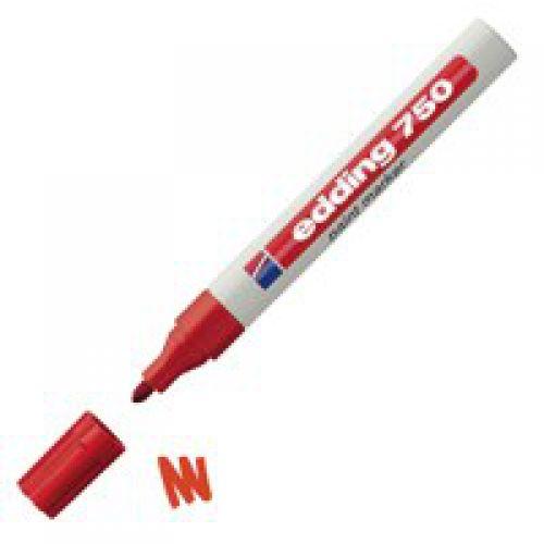 Edding 750 Paint Marker Bullet Tip 2-4mm Red PK10
