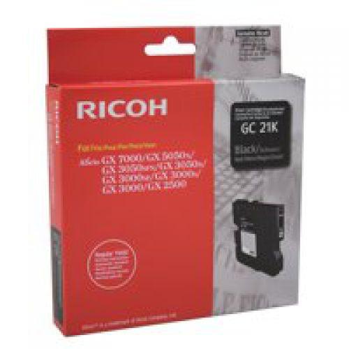 Ricoh 405532 GC21 Black Gel Ink 1.5K
