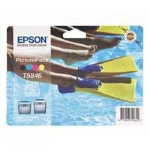 Epson C13T58464010 T5846 PhotoPack Ink 39ml Paper 150 Sheets